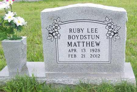 MATTHEW, RUBY LEE - Benton County, Arkansas | RUBY LEE MATTHEW - Arkansas Gravestone Photos