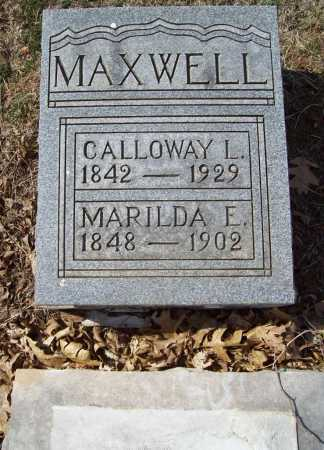 MAXWELL, MARILDA EMELINE - Benton County, Arkansas | MARILDA EMELINE MAXWELL - Arkansas Gravestone Photos