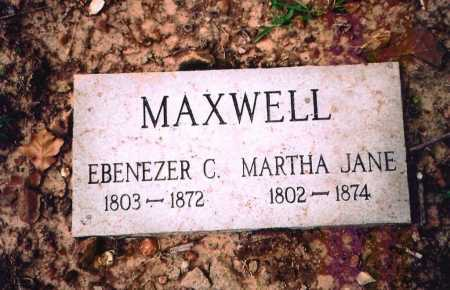 MAXWELL, MARTHA JANE - Benton County, Arkansas | MARTHA JANE MAXWELL - Arkansas Gravestone Photos