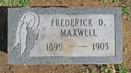 MAXWELL, FREDERICK D - Benton County, Arkansas | FREDERICK D MAXWELL - Arkansas Gravestone Photos