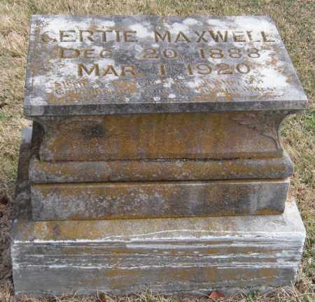 MAXWELL, GERTIE - Benton County, Arkansas   GERTIE MAXWELL - Arkansas Gravestone Photos