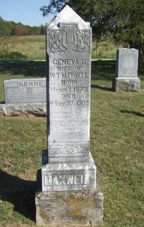 MAXWELL, GENEVA G. - Benton County, Arkansas | GENEVA G. MAXWELL - Arkansas Gravestone Photos