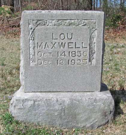 MAXWELL, LOU - Benton County, Arkansas   LOU MAXWELL - Arkansas Gravestone Photos