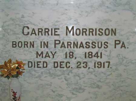 MORRISON, CARRIE - Benton County, Arkansas   CARRIE MORRISON - Arkansas Gravestone Photos