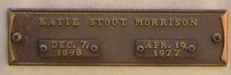 MORRISON, KATIE STOUT - Benton County, Arkansas | KATIE STOUT MORRISON - Arkansas Gravestone Photos