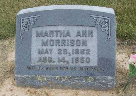 MORRISON, MARTHA ANN - Benton County, Arkansas   MARTHA ANN MORRISON - Arkansas Gravestone Photos