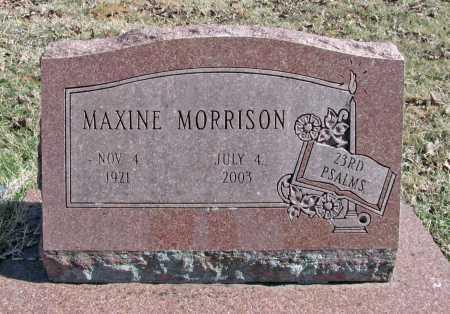 MORRISON, MAXINE - Benton County, Arkansas | MAXINE MORRISON - Arkansas Gravestone Photos
