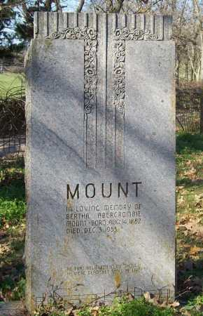 MOUNT, BERTHA - Benton County, Arkansas | BERTHA MOUNT - Arkansas Gravestone Photos