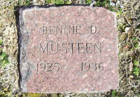 MUSTEEN, BENNIE D. - Benton County, Arkansas | BENNIE D. MUSTEEN - Arkansas Gravestone Photos