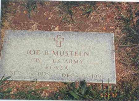MUSTEEN (VETERAN KOR), JOE B - Benton County, Arkansas | JOE B MUSTEEN (VETERAN KOR) - Arkansas Gravestone Photos