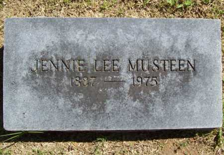 MUSTEEN, JENNIE LEE - Benton County, Arkansas | JENNIE LEE MUSTEEN - Arkansas Gravestone Photos