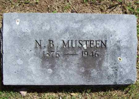 "MUSTEEN, N. B. ""NATE"" - Benton County, Arkansas | N. B. ""NATE"" MUSTEEN - Arkansas Gravestone Photos"