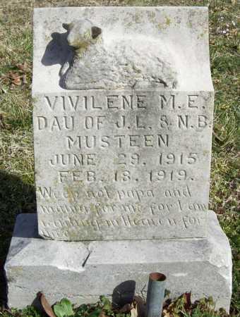 MUSTEEN, VIVILENE M.E. - Benton County, Arkansas | VIVILENE M.E. MUSTEEN - Arkansas Gravestone Photos