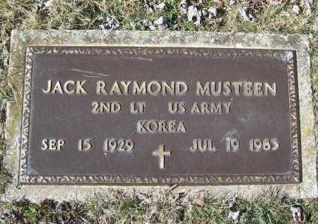 MUSTEEN (VETERAN KOR), JACK RAYMOND - Benton County, Arkansas | JACK RAYMOND MUSTEEN (VETERAN KOR) - Arkansas Gravestone Photos