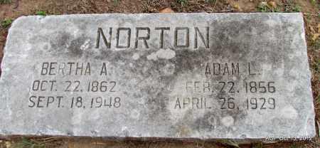 NORTON, ADAM L. - Benton County, Arkansas | ADAM L. NORTON - Arkansas Gravestone Photos