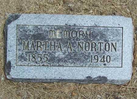 NORTON, MARTHA A. - Benton County, Arkansas   MARTHA A. NORTON - Arkansas Gravestone Photos