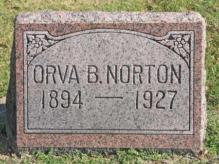 NORTON, ORVA B - Benton County, Arkansas | ORVA B NORTON - Arkansas Gravestone Photos