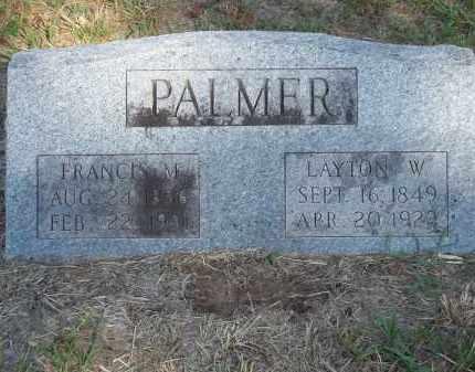 PALMER, LAYTON W - Benton County, Arkansas | LAYTON W PALMER - Arkansas Gravestone Photos