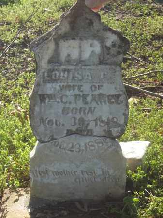 PEARCE, LOUISA G. - Benton County, Arkansas | LOUISA G. PEARCE - Arkansas Gravestone Photos