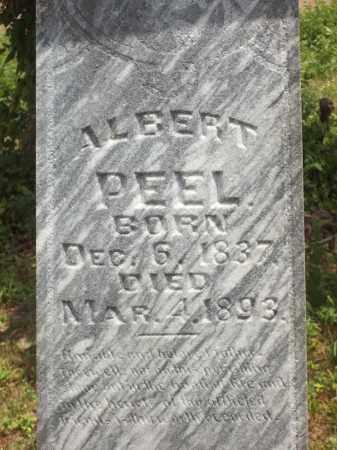 PEEL, ALBERT (CLOSEUP) - Benton County, Arkansas   ALBERT (CLOSEUP) PEEL - Arkansas Gravestone Photos