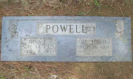 POWELL, NINA L. - Benton County, Arkansas   NINA L. POWELL - Arkansas Gravestone Photos