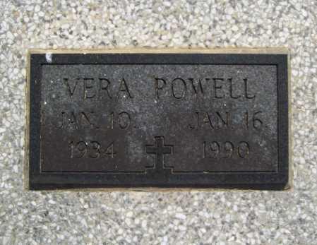 POWELL, VERA (CLOSEUP) - Benton County, Arkansas   VERA (CLOSEUP) POWELL - Arkansas Gravestone Photos