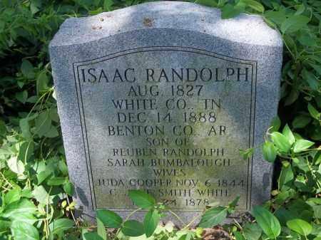 RANDOLPH, ISAAC - Benton County, Arkansas   ISAAC RANDOLPH - Arkansas Gravestone Photos
