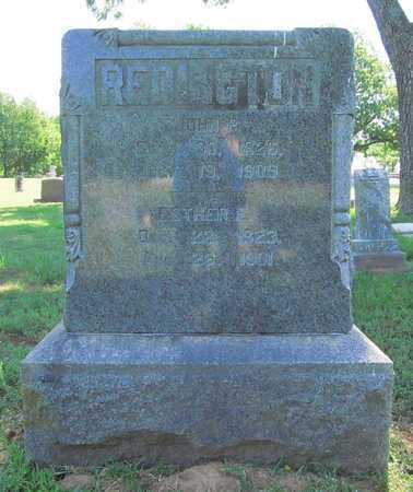 PARKER REDINGTON, ESTHER E - Benton County, Arkansas | ESTHER E PARKER REDINGTON - Arkansas Gravestone Photos