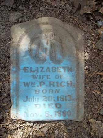 RICH, ELIZABETH - Benton County, Arkansas | ELIZABETH RICH - Arkansas Gravestone Photos