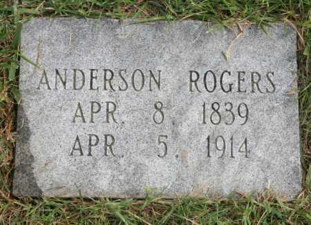 ROGERS, ANDERSON - Benton County, Arkansas | ANDERSON ROGERS - Arkansas Gravestone Photos