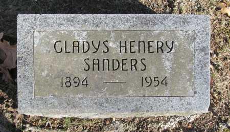 SANDERS, GLADYS HENERY - Benton County, Arkansas   GLADYS HENERY SANDERS - Arkansas Gravestone Photos
