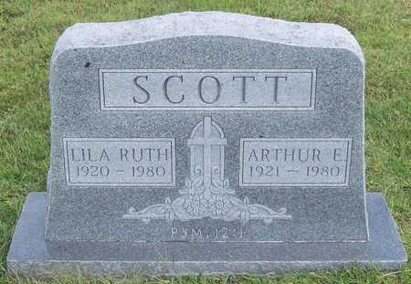 SCOTT, ARTHUR E - Benton County, Arkansas | ARTHUR E SCOTT - Arkansas Gravestone Photos