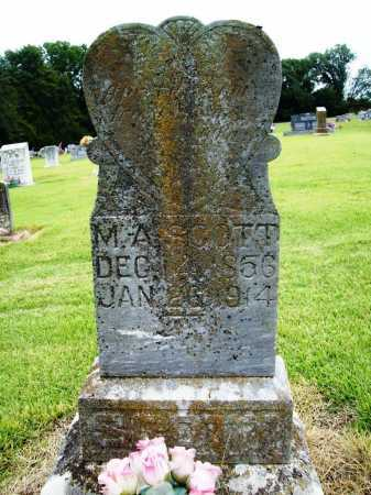 SCOTT, M. A. - Benton County, Arkansas | M. A. SCOTT - Arkansas Gravestone Photos