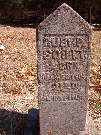 SCOTT, RUBY P. - Benton County, Arkansas | RUBY P. SCOTT - Arkansas Gravestone Photos