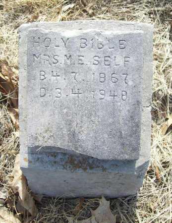 SELF, M. E., MRS. - Benton County, Arkansas | M. E., MRS. SELF - Arkansas Gravestone Photos