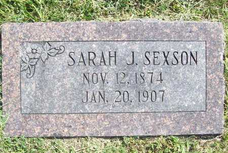 SEXSON, SARAH J - Benton County, Arkansas | SARAH J SEXSON - Arkansas Gravestone Photos