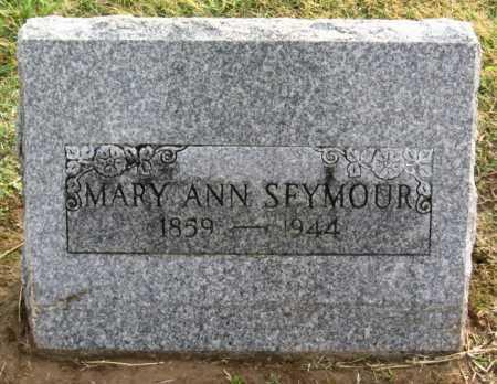 SEYMOUR, MARY ANN - Benton County, Arkansas | MARY ANN SEYMOUR - Arkansas Gravestone Photos