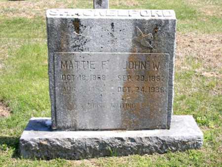 SHACKELFORD, JOHN W. - Benton County, Arkansas | JOHN W. SHACKELFORD - Arkansas Gravestone Photos