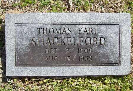 SHACKELFORD, THOMAS EARL - Benton County, Arkansas | THOMAS EARL SHACKELFORD - Arkansas Gravestone Photos