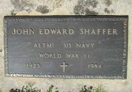 SHAFFER (VETERAN WWII), JOHN EDWARD - Benton County, Arkansas | JOHN EDWARD SHAFFER (VETERAN WWII) - Arkansas Gravestone Photos
