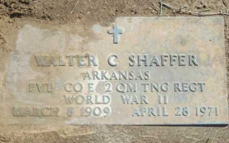 SHAFFER (VETERAN WWII), WALTER C - Benton County, Arkansas | WALTER C SHAFFER (VETERAN WWII) - Arkansas Gravestone Photos