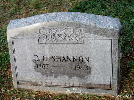 SHANNON, D. C. - Benton County, Arkansas   D. C. SHANNON - Arkansas Gravestone Photos