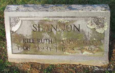 SHANNON, ANN - Benton County, Arkansas | ANN SHANNON - Arkansas Gravestone Photos