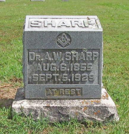 SHARP, A W - Benton County, Arkansas   A W SHARP - Arkansas Gravestone Photos