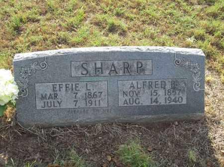 SHARP, ALFRED B. - Benton County, Arkansas | ALFRED B. SHARP - Arkansas Gravestone Photos