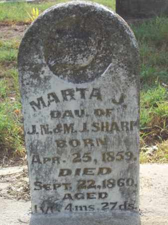 SHARP, MARTA J. - Benton County, Arkansas | MARTA J. SHARP - Arkansas Gravestone Photos