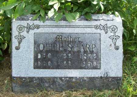 SHARP, OLLIE - Benton County, Arkansas | OLLIE SHARP - Arkansas Gravestone Photos