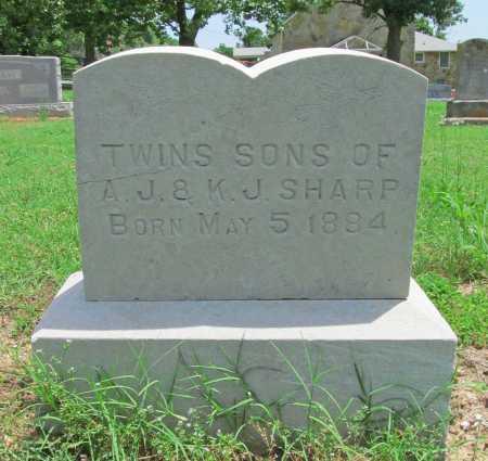 SHARP, TWIN SONS - Benton County, Arkansas | TWIN SONS SHARP - Arkansas Gravestone Photos