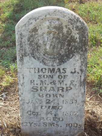 SHARP, THOMAS J. - Benton County, Arkansas   THOMAS J. SHARP - Arkansas Gravestone Photos