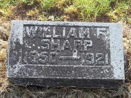 SHARP, WILLIAM F. - Benton County, Arkansas | WILLIAM F. SHARP - Arkansas Gravestone Photos